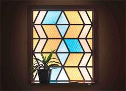 Бизнес идея №5311. Витражное окно-солнечная батарея 2 в 1