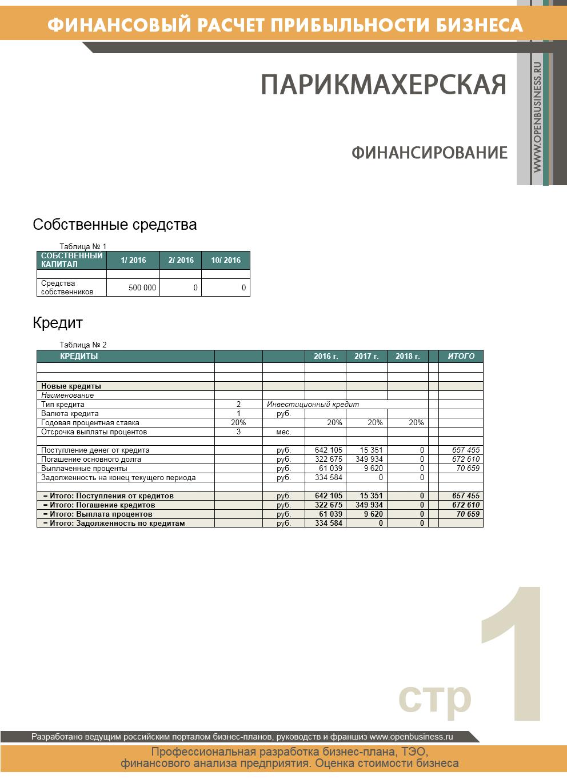 Финансовые расчеты парикмахерская img