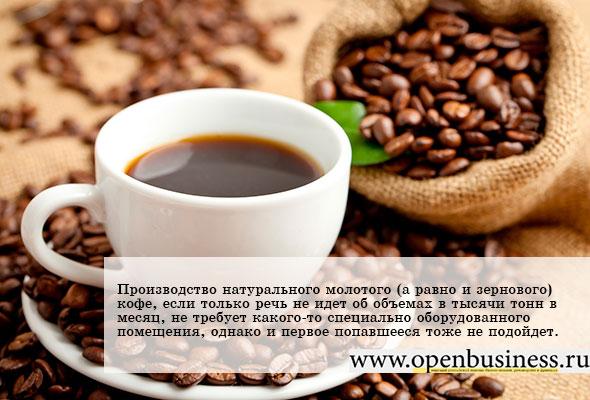 Производство кофе бизнес план бизнес план выставки продажи