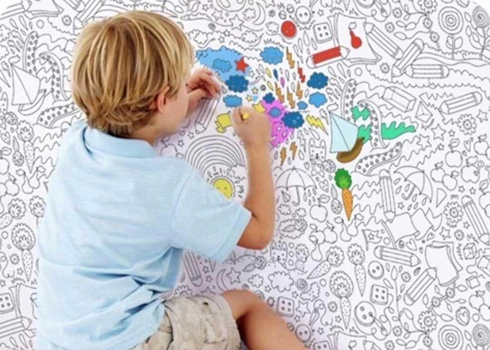 Обои-раскраски для детей