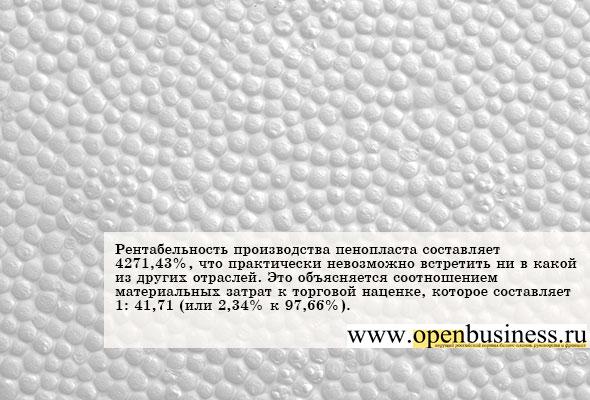 Как открыть свой бизнес по производству полистирольного пенопласта
